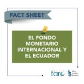 El Fondo Monetario Internacional y Ecuador